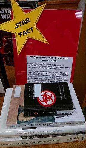 Star Wars book display