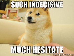 Indecisive Shiba Inu