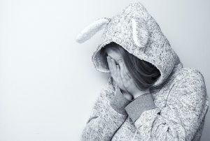 dejected woman